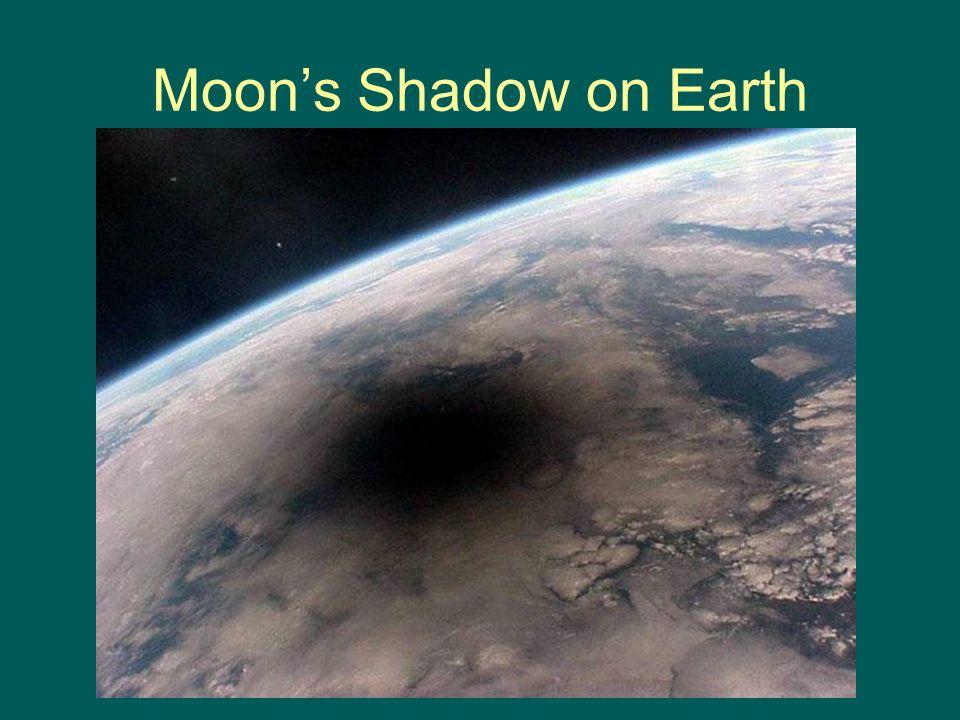 Moon's Shadow on Earth