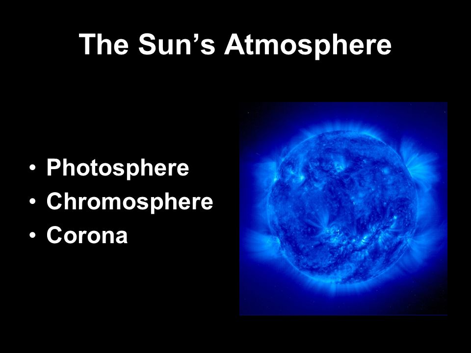 The Sun's Atmosphere Photosphere Chromosphere Corona