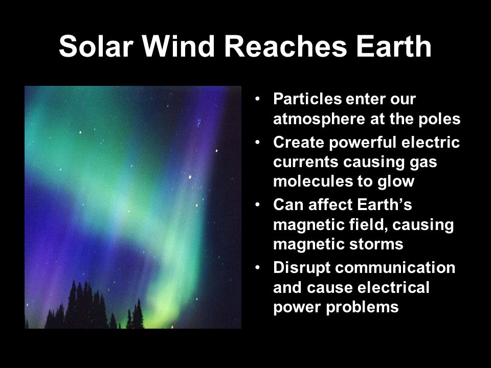 Solar Wind Reaches Earth