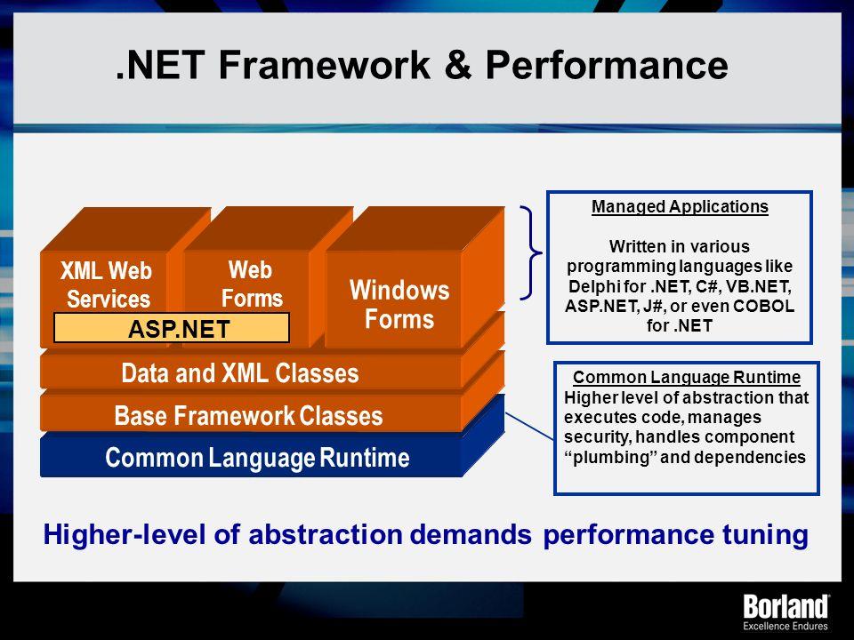 .NET Framework & Performance