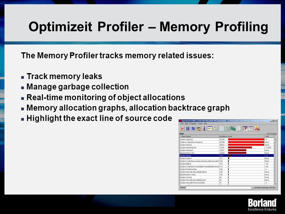 Optimizeit Profiler – Memory Profiling