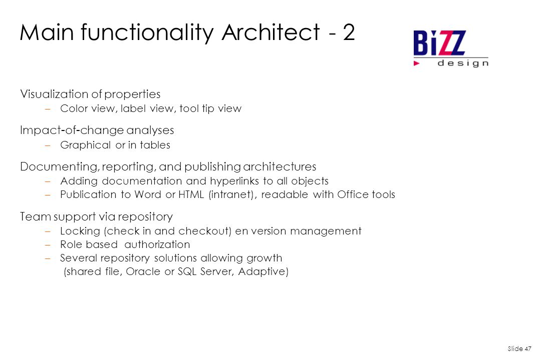 Main functionality Architect - 2