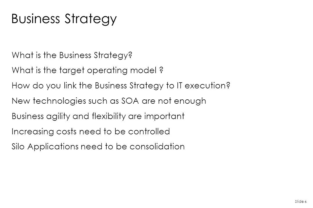 Business Strategy What is the Business Strategy