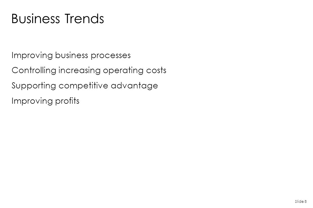 Business Trends Improving business processes