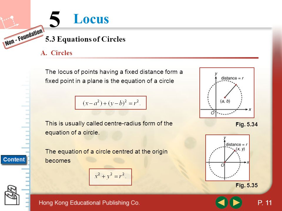 5.3 Equations of Circles A. Circles