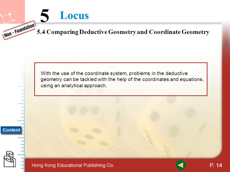 5.4 Comparing Deductive Geometry and Coordinate Geometry