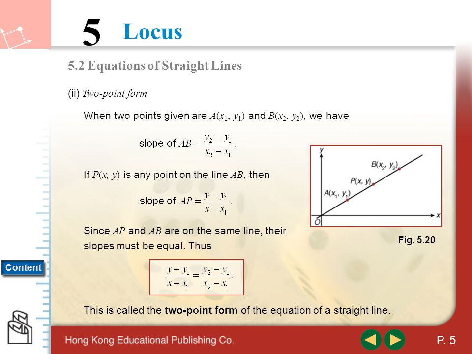 5.2 Equations of Straight Lines