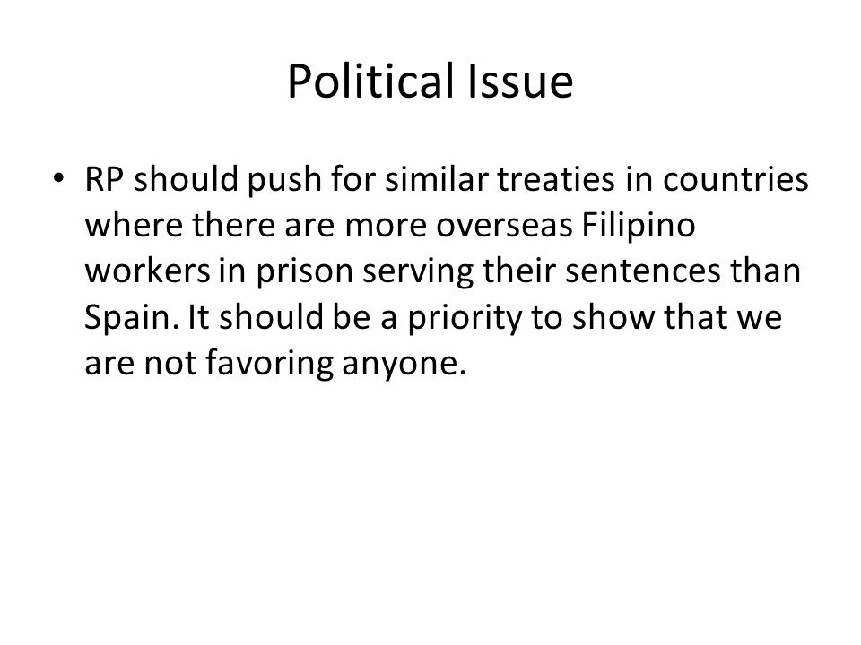 Political Issue