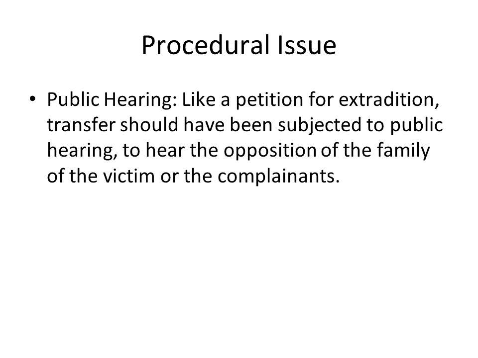 Procedural Issue
