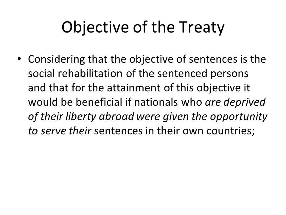 Objective of the Treaty