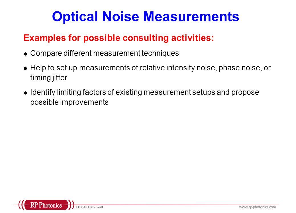 Optical Noise Measurements