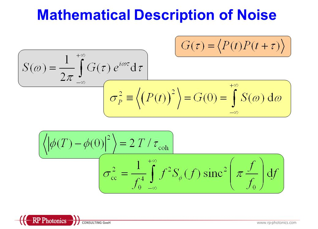 Mathematical Description of Noise