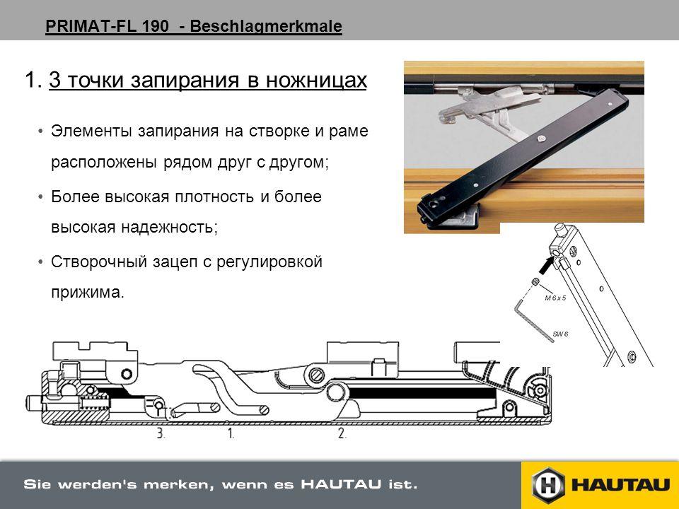 PRIMAT-FL 190 - Beschlagmerkmale