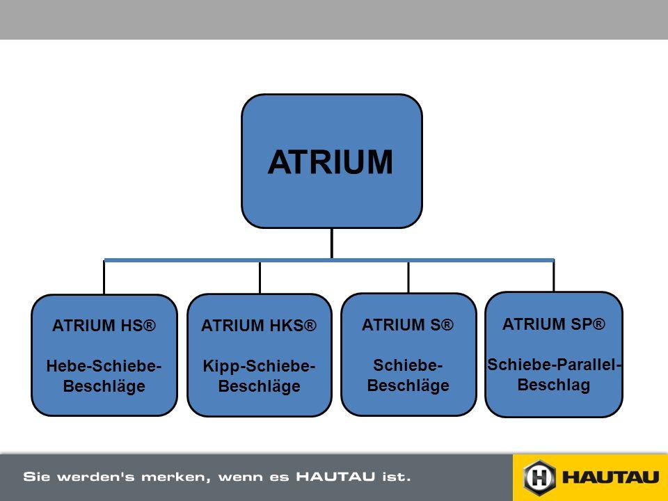 ATRIUM ATRIUM HS® Hebe-Schiebe- Beschläge ATRIUM HKS® Kipp-Schiebe-