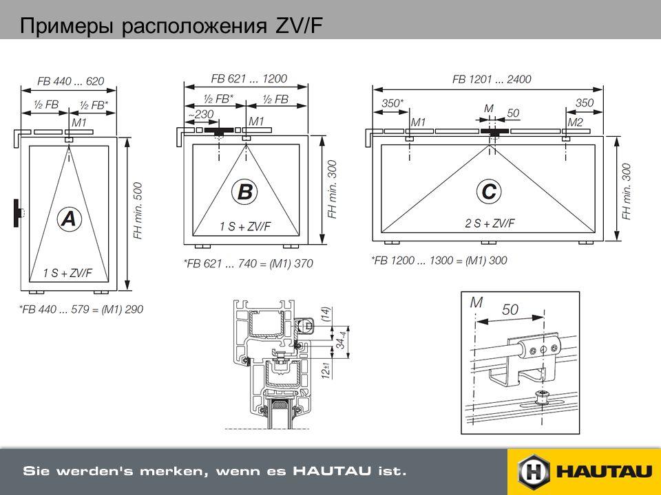 Примеры расположения ZV/F