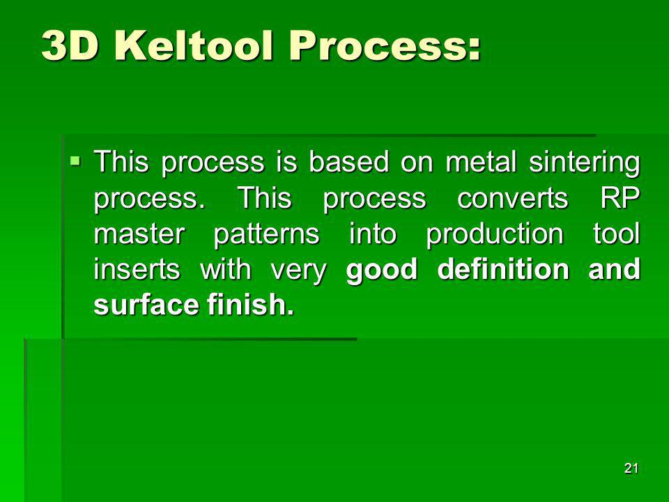 3D Keltool Process: