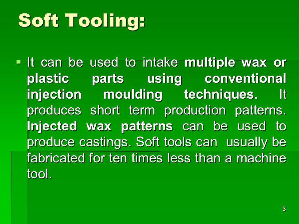 Soft Tooling: