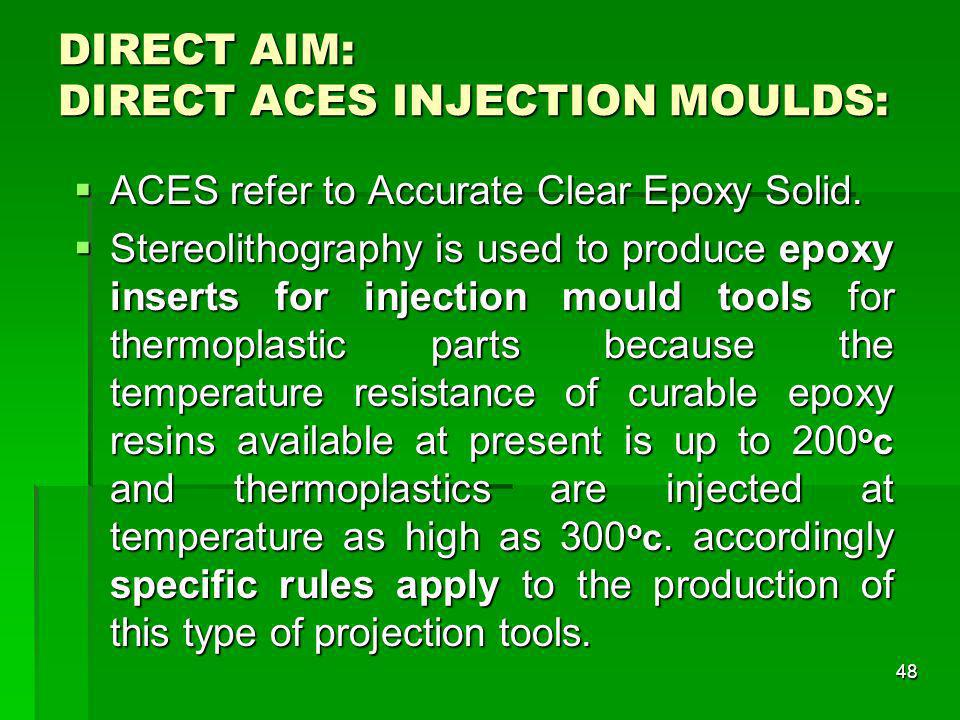 DIRECT AIM: DIRECT ACES INJECTION MOULDS:
