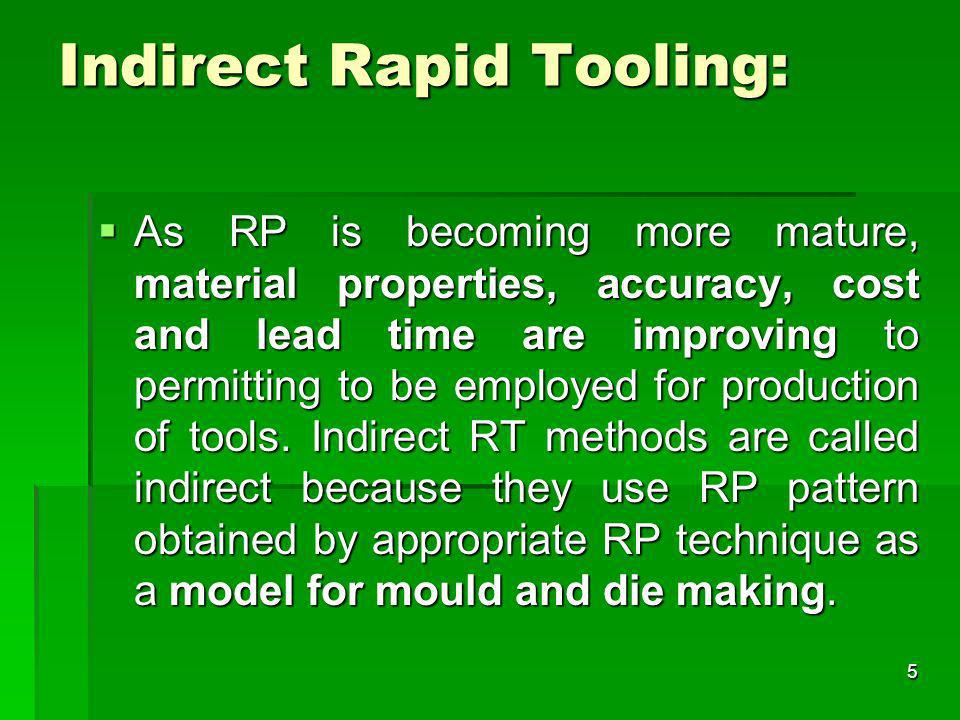 Indirect Rapid Tooling: