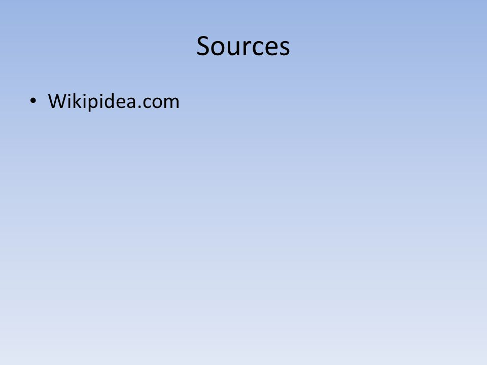Sources Wikipidea.com