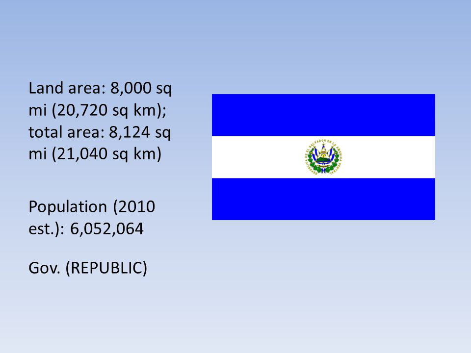Land area: 8,000 sq mi (20,720 sq km); total area: 8,124 sq mi (21,040 sq km)
