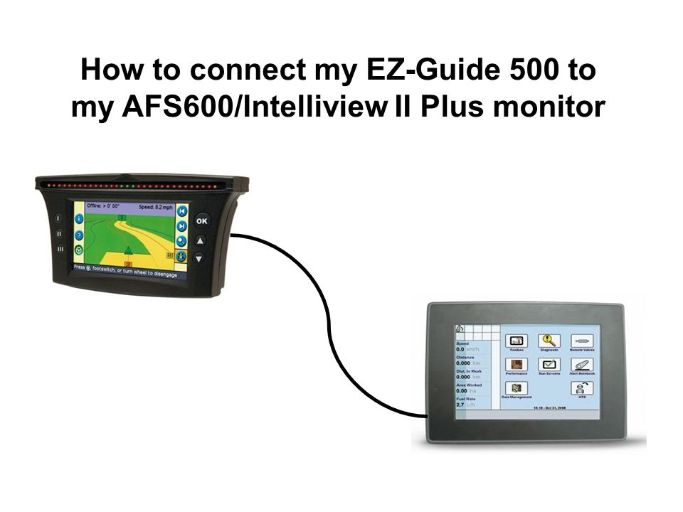How to connect my EZ-Guide 500 to my AFS600/Intelliview II Plus monitor