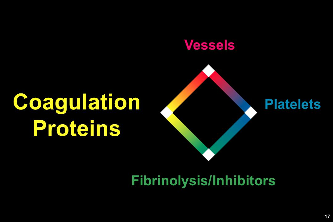 Platelets Coagulation Proteins Fibrinolysis/Inhibitors Vessels