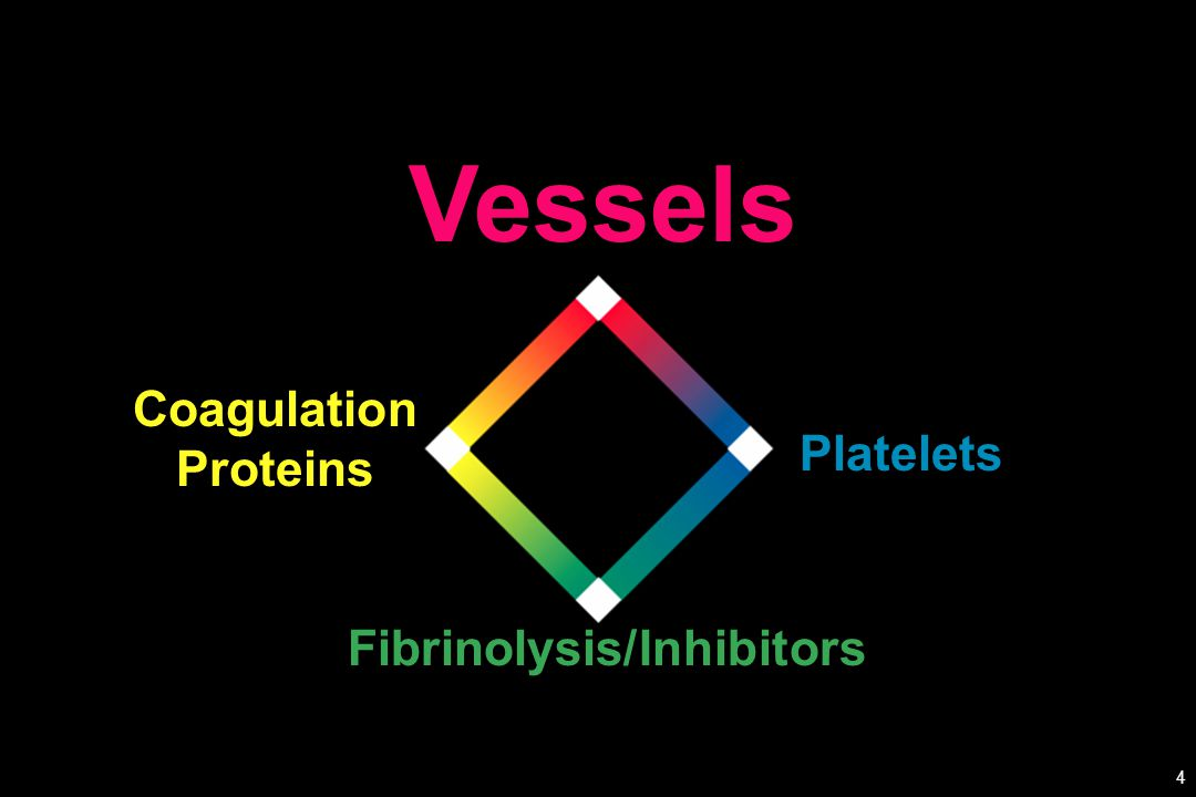Platelets Fibrinolysis/Inhibitors Coagulation Proteins Vessels