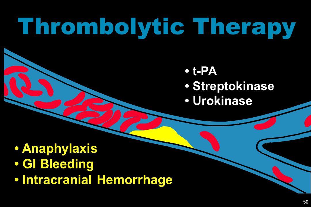 Thrombolytic Therapy • Anaphylaxis • GI Bleeding