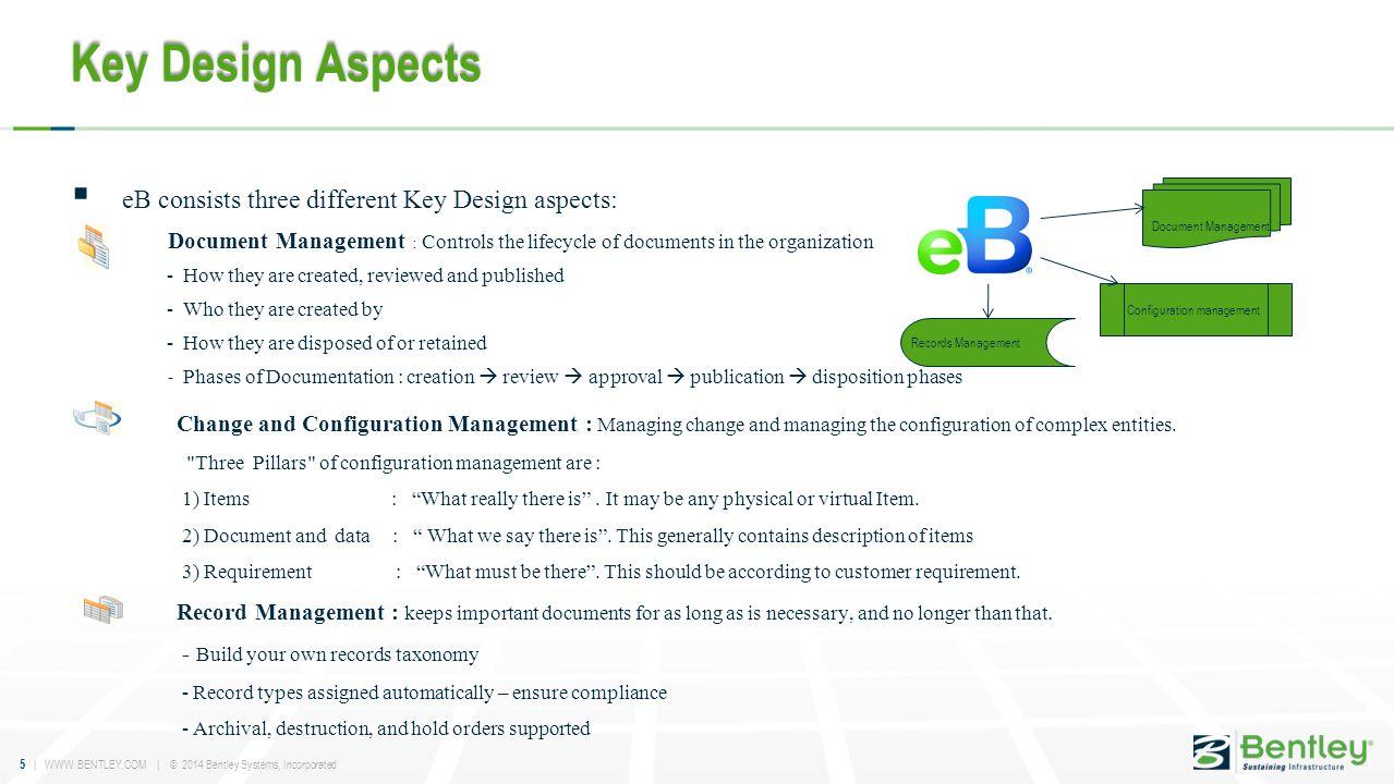 Key Design Aspects eB consists three different Key Design aspects: