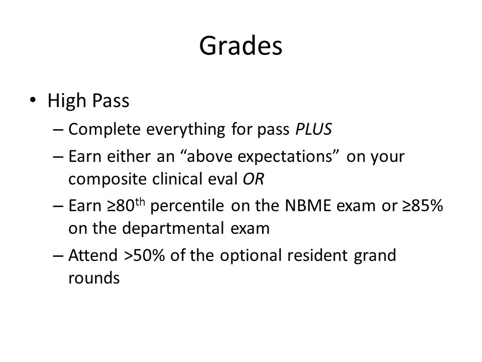 Grades High Pass Complete everything for pass PLUS