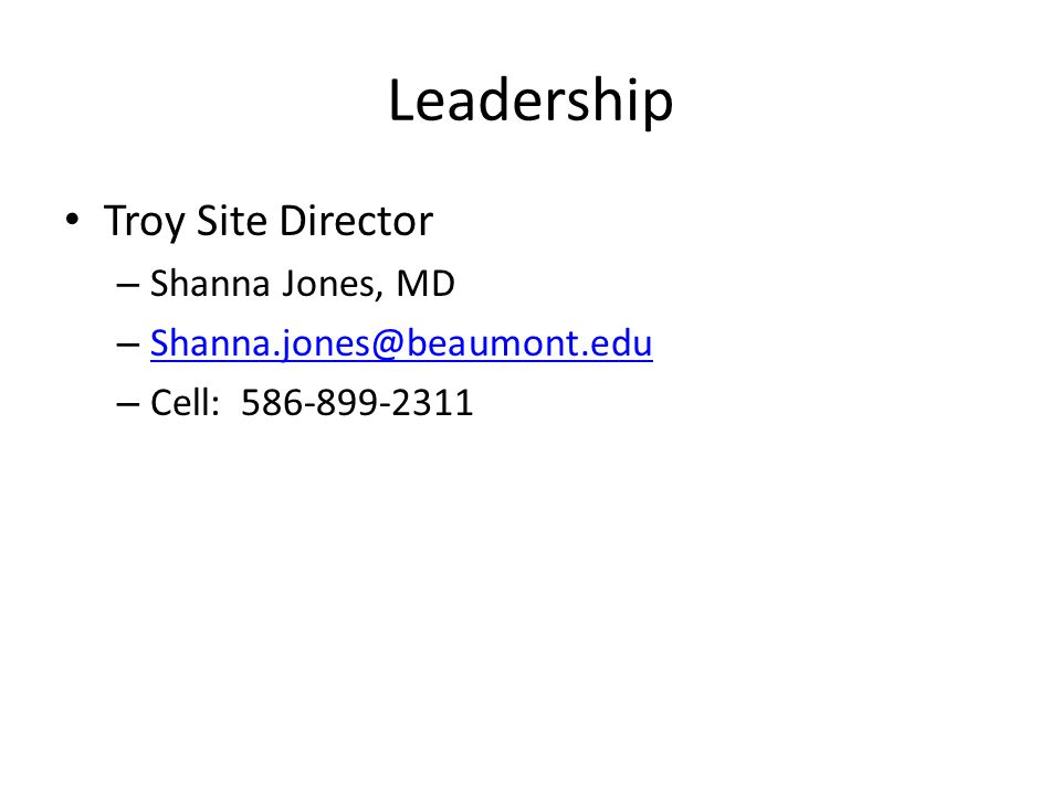 Leadership Troy Site Director Shanna Jones, MD