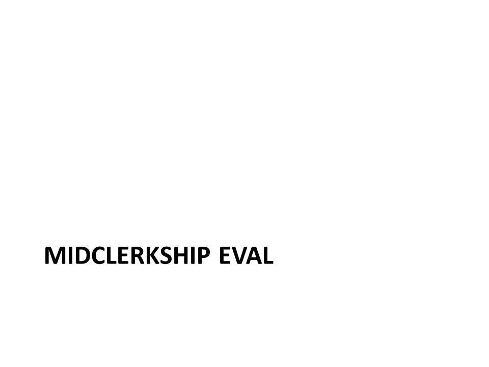 Midclerkship eval
