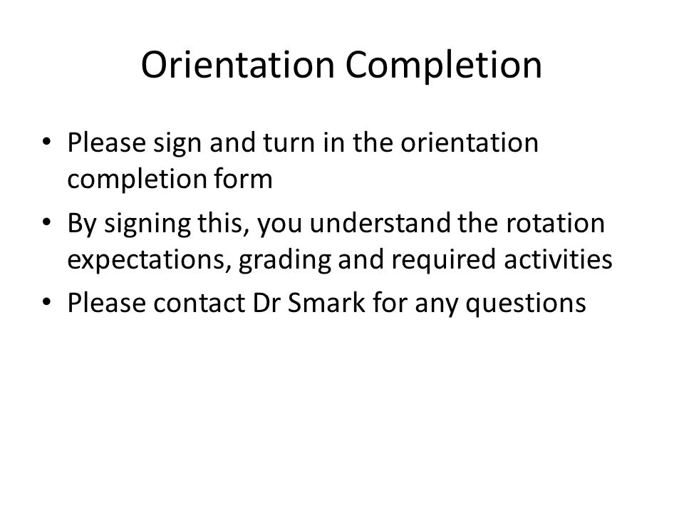 Orientation Completion