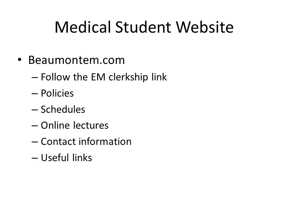 Medical Student Website