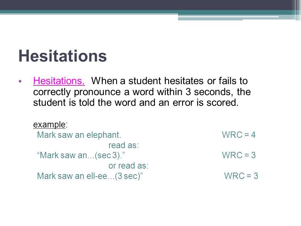 Hesitations