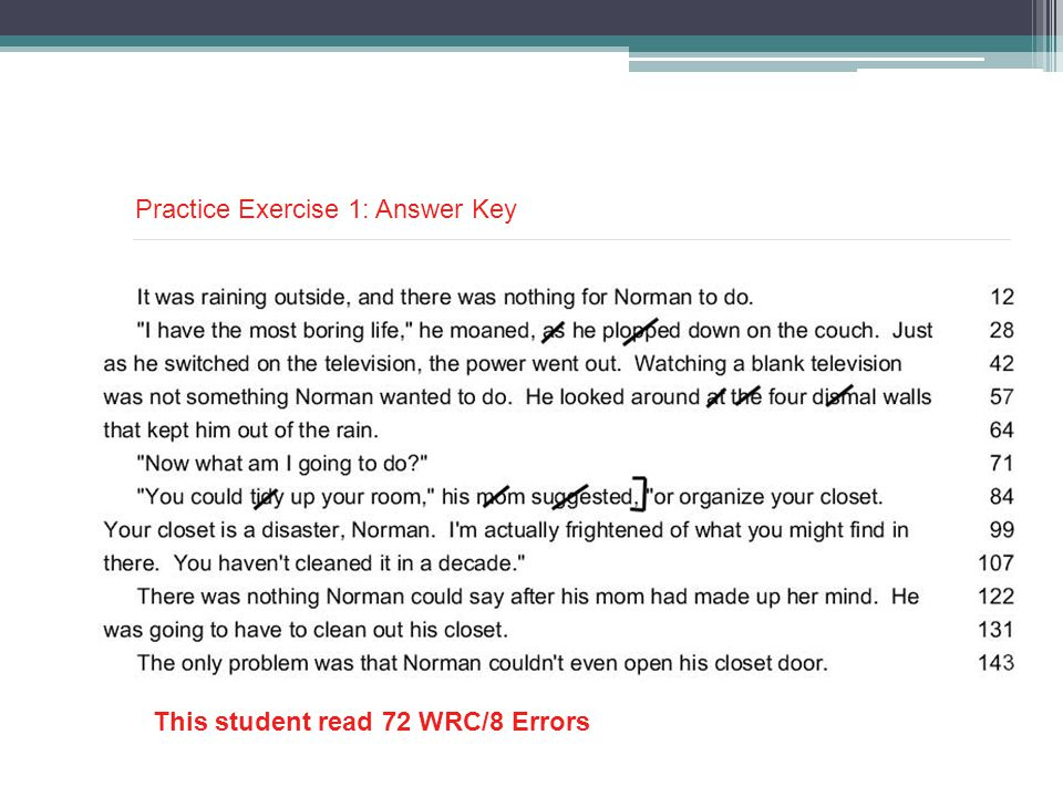 Practice Exercise 1: Answer Key
