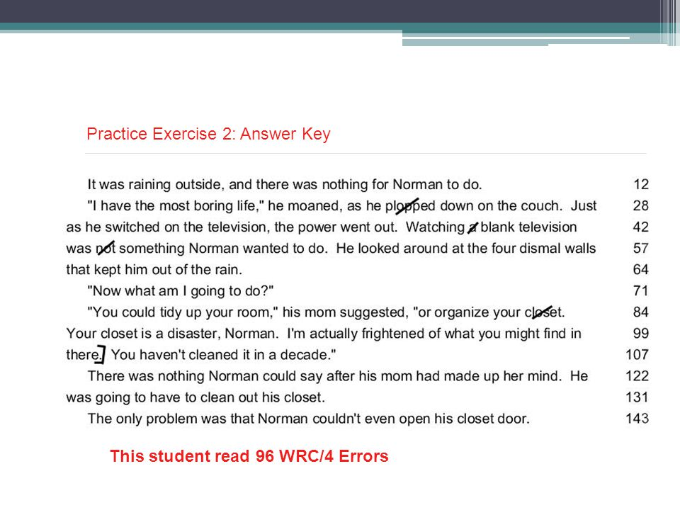 Practice Exercise 2: Answer Key
