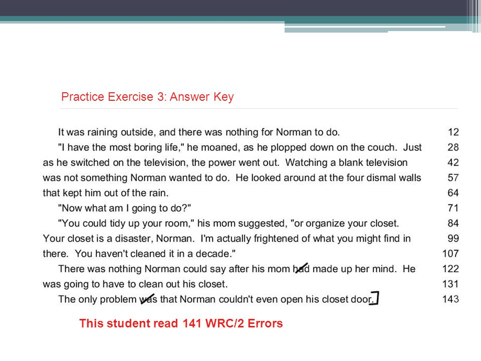 Practice Exercise 3: Answer Key