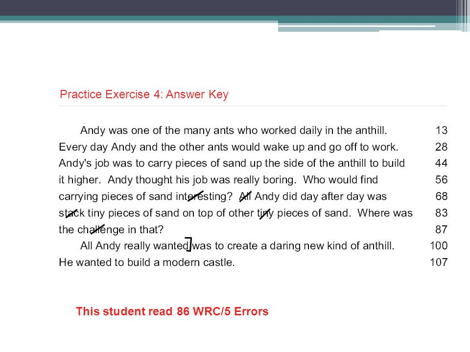 Practice Exercise 4: Answer Key