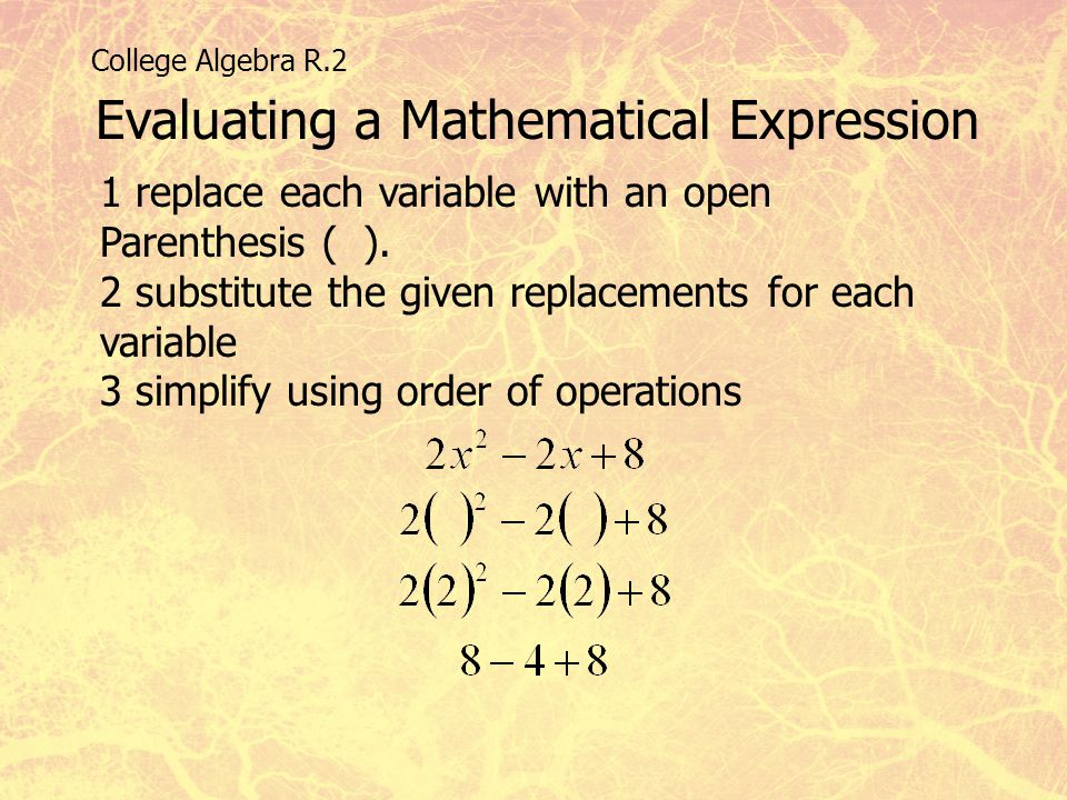 Evaluating a Mathematical Expression