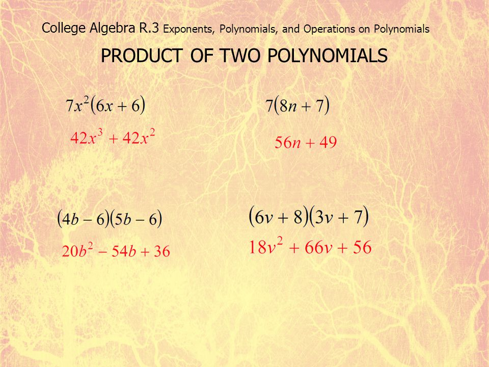 PRODUCT OF TWO POLYNOMIALS