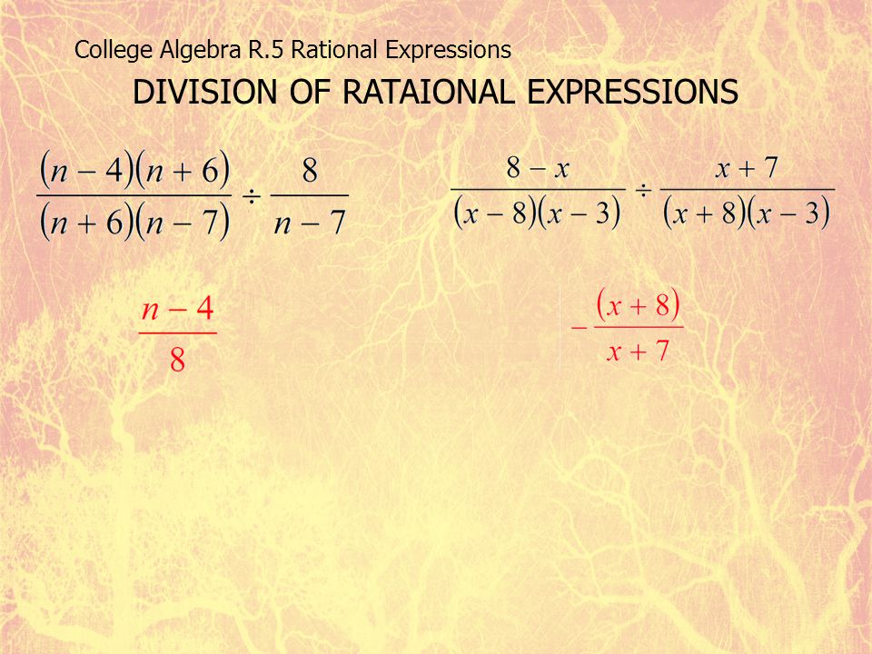 DIVISION OF RATAIONAL EXPRESSIONS