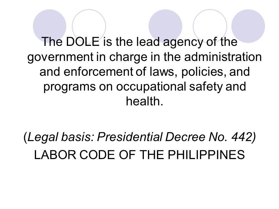 (Legal basis: Presidential Decree No. 442)