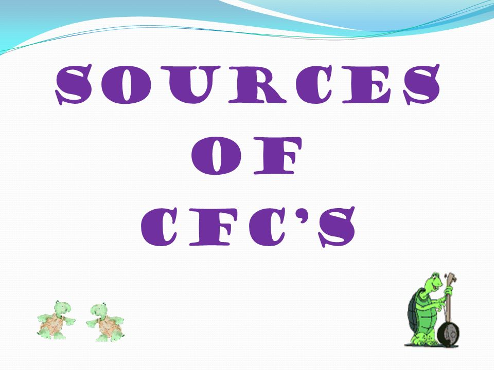 Sources of CFC's
