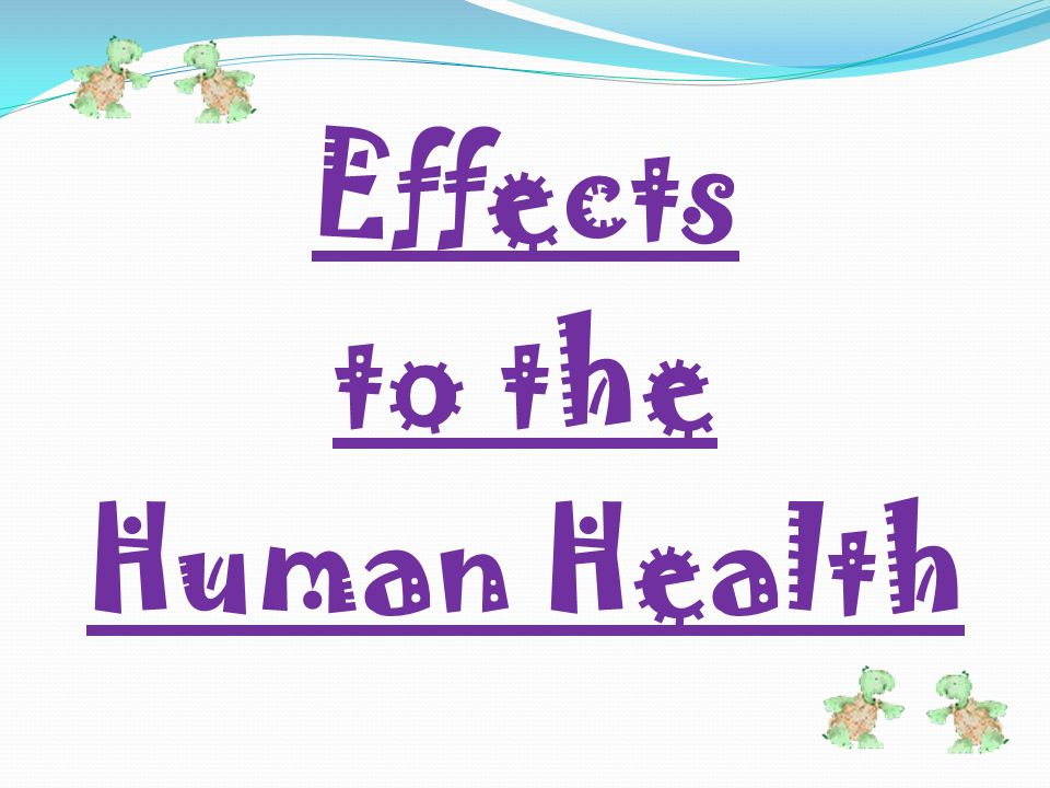 Effects to the Human Health