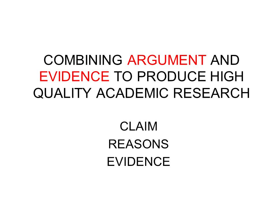 CLAIM REASONS EVIDENCE