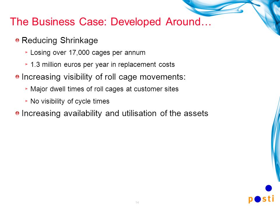 The Business Case: Developed Around…