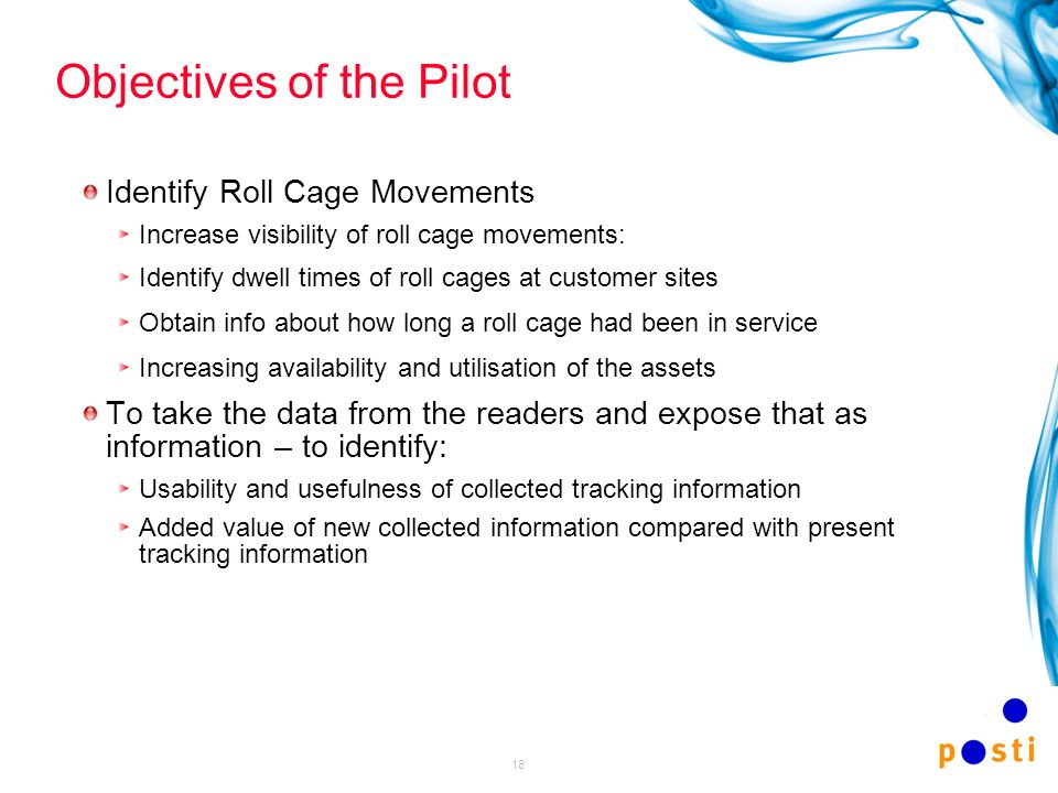 Objectives of the Pilot