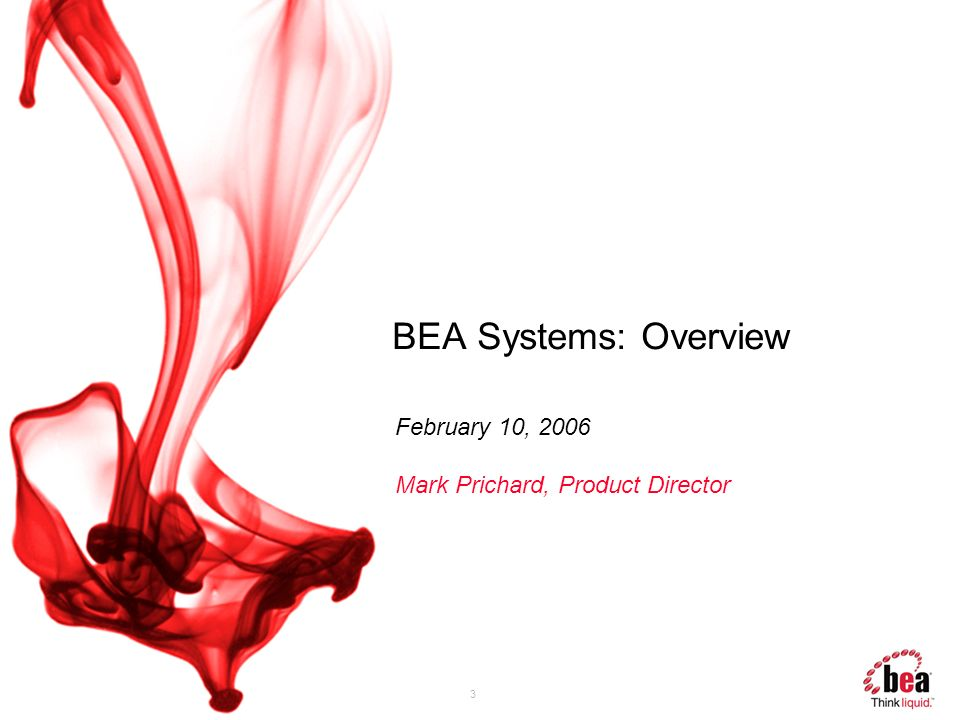 BEA Systems: Overview February 10, 2006